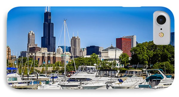 Photo Of Chicago Skyline With Burnham Harbor IPhone Case