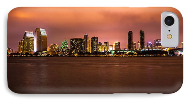 Photo Of San Diego At Night Phone Case by Paul Velgos
