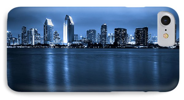 Photo Of San Diego At Night Skyline Buildings IPhone Case