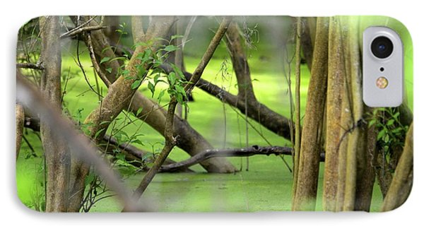 Green Water At Brazos Bend State Park In Texas IPhone Case by Alex King