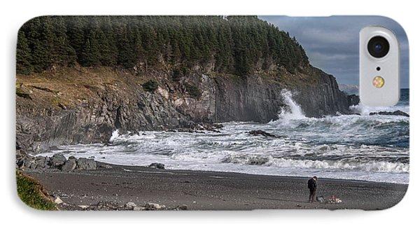 Photographer On Atlantic Beach IPhone Case by Patrick Boening