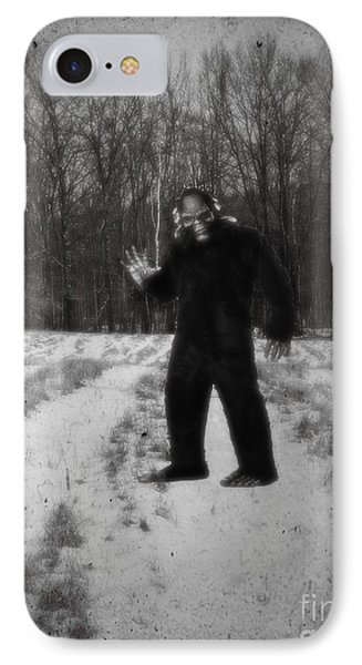 Photographic Evidence Of Big Foot IPhone Case by Edward Fielding