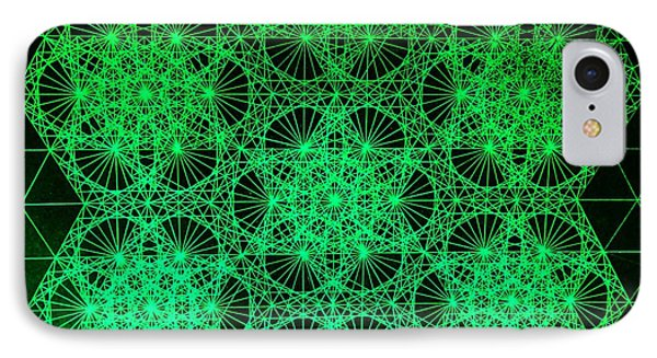 IPhone Case featuring the drawing Photon Interference Fractal by Jason Padgett