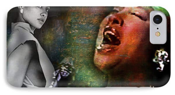 Phyllis Hyman IPhone Case by Lynda Payton