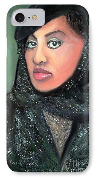 IPhone Case featuring the digital art Phyllis Hyman by Vannetta Ferguson
