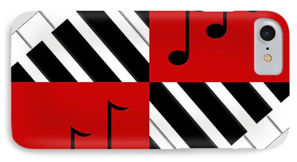 Piano Abstract 3 Phone Case by Andee Design
