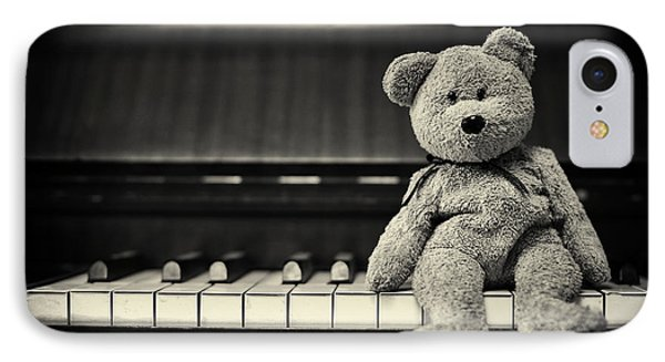 Piano Bear IPhone Case by Tim Gainey