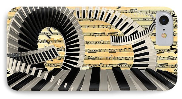Piano Keys  IPhone Case by Louis Ferreira