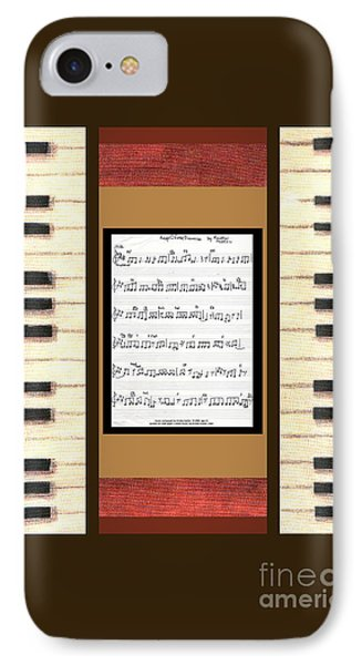 piano keys sheet music to Keep Of The Promise by Kristie Hubler Phone Case by Kristie Hubler