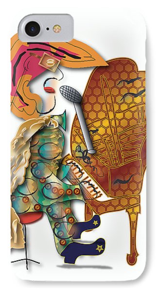 IPhone Case featuring the digital art Piano Man by Marvin Blaine