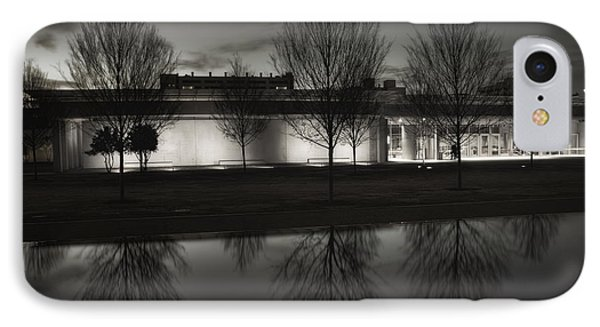 Piano Pavilion Bw Reflections Phone Case by Joan Carroll