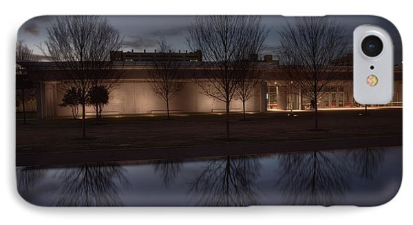 Piano Pavilion Night Reflections Phone Case by Joan Carroll