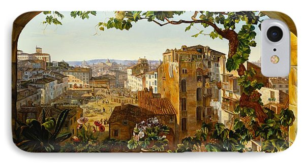 Piazza Barberini In Rome IPhone Case by Karl von Bergen