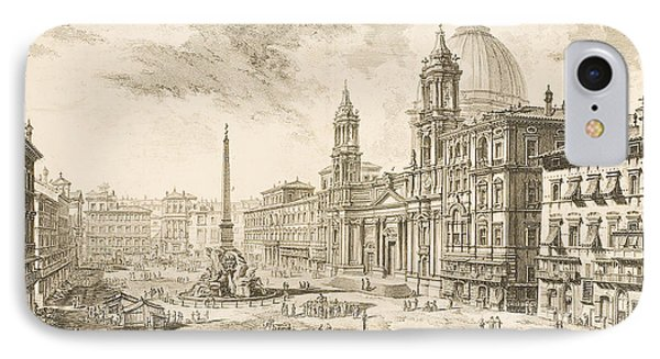 Piazza Navona IPhone Case by Giovanni Battista Piranesi
