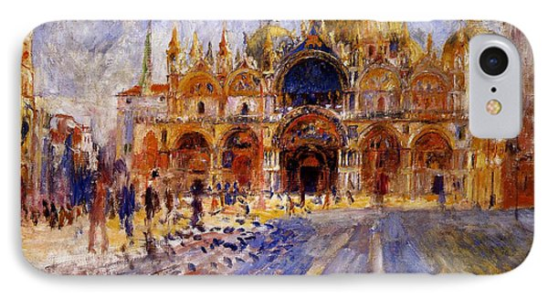 Piazza San Marco IPhone Case by Pierre Auguste  Renoir