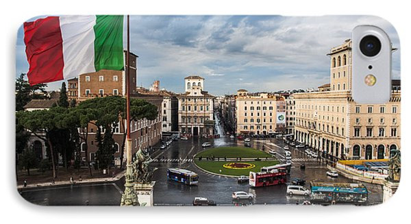IPhone Case featuring the photograph Piazza Venezia by John Wadleigh