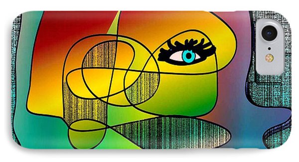 Picasso Inspired Cartoon Phone Case by Iris Gelbart
