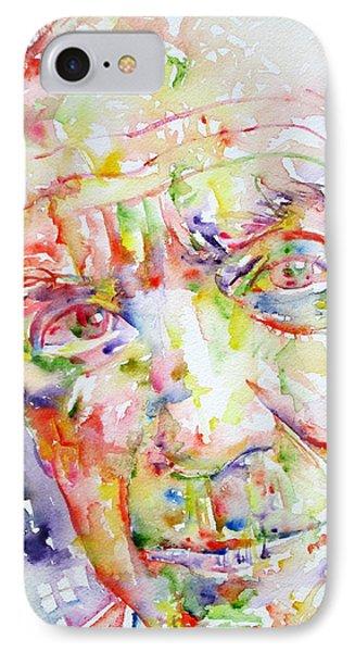 Picasso Pablo Watercolor Portrait.2 Phone Case by Fabrizio Cassetta