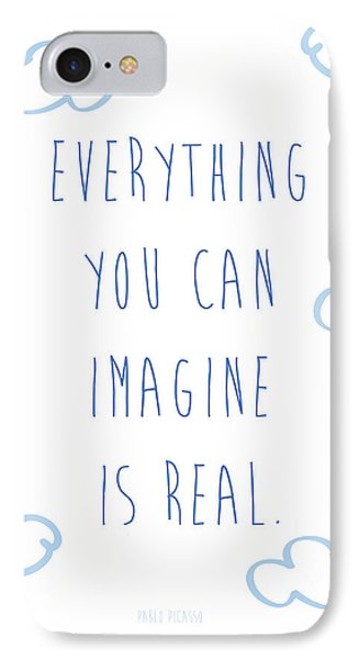 Picasso Quote IPhone Case by Gina Dsgn