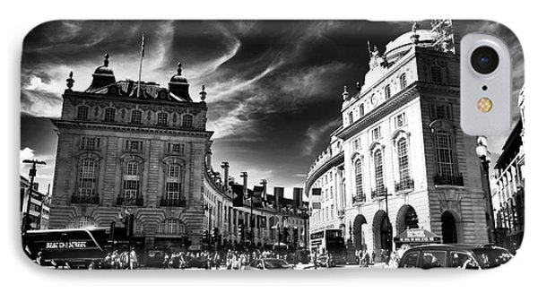 Piccadilly Circus Phone Case by John Rizzuto