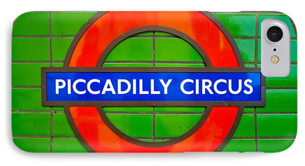 IPhone Case featuring the photograph Piccadilly Circus Tube Station by Luciano Mortula