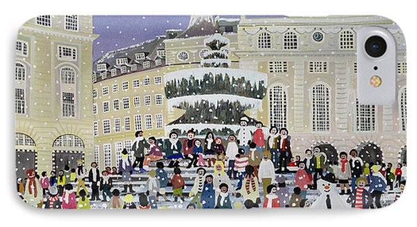 Piccadilly Snow Scene IPhone Case by Judy Joel