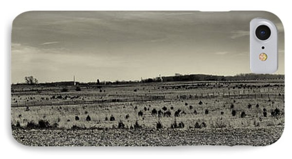 Picketts Charge From Seminary Ridge In Black And White Phone Case by Joshua House