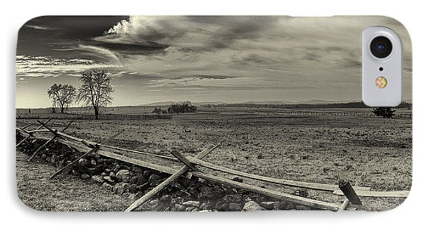 Picketts Charge The Angle Black And White Phone Case by Joshua House
