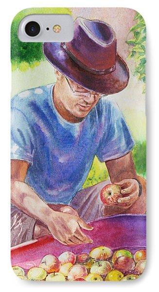 Picking Apples IPhone Case by Irina Sztukowski