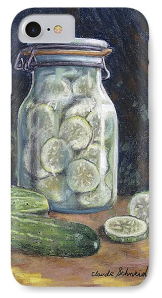 Pickled Cucumbers IPhone Case by Claude Schneider