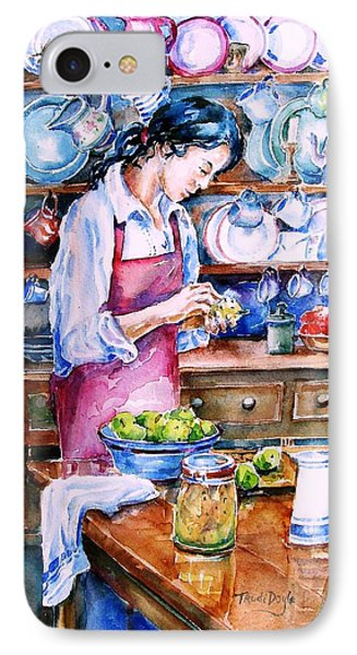 IPhone Case featuring the painting Pickling Pears  by Trudi Doyle
