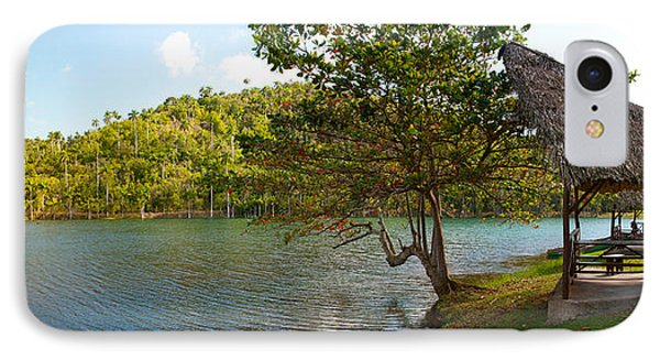 Picnic Area At Pond, Las Terrazas IPhone Case by Panoramic Images
