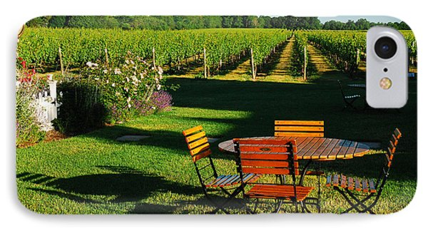 Picnic In The Vineyard IPhone Case by James Kirkikis