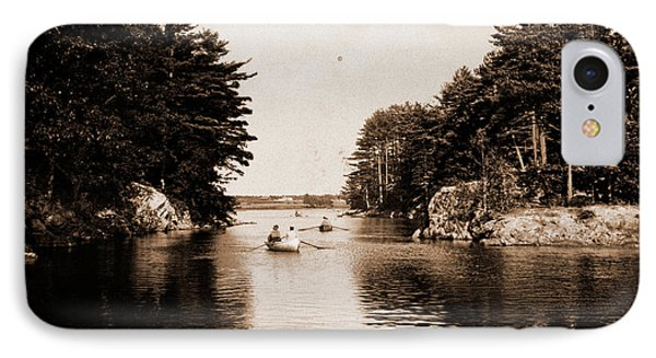 Picnic Rocks, Kennebunk River, Maine, Rivers IPhone Case by Litz Collection