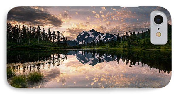 IPhone Case featuring the photograph Picture Lake Awakening by Dan Mihai