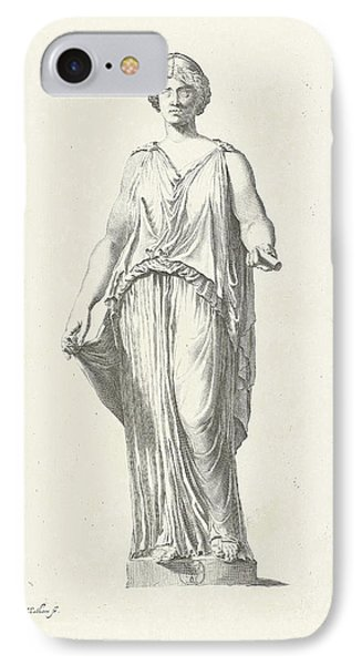 Picture Of A Caryatid, Theodor Matham IPhone Case by Quint Lox