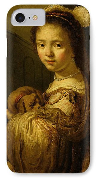 Picture Of A Young Girl IPhone Case by Govaert Flinck