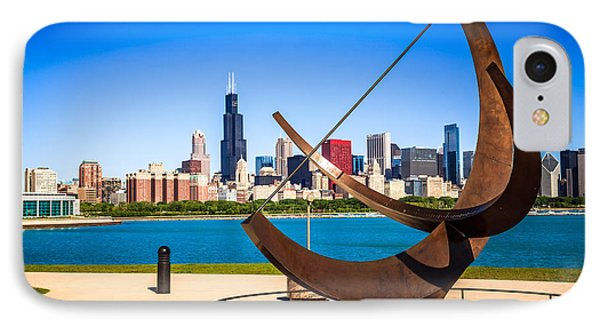 Picture Of Chicago Adler Planetarium Sundial IPhone Case by Paul Velgos