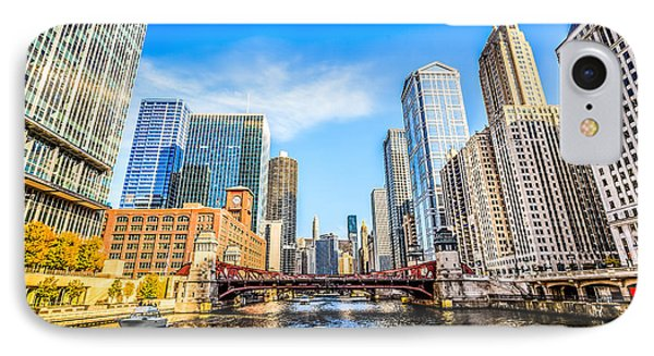Picture Of Chicago At Lasalle Street Bridge Phone Case by Paul Velgos
