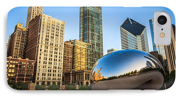Picture Of Cloud Gate Bean And Chicago Skyline IPhone Case