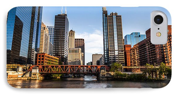 Picture Of Downtown Chicago Loop Buildings IPhone Case by Paul Velgos
