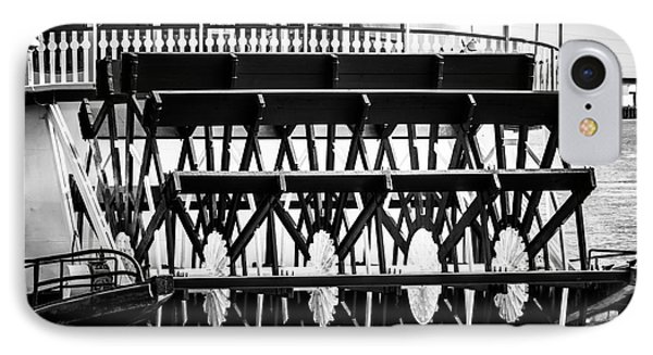 Picture Of Natchez Steamboat Paddle Wheel In New Orleans Phone Case by Paul Velgos