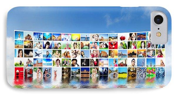 Pictures Display On Wide Monitors IPhone Case by Michal Bednarek