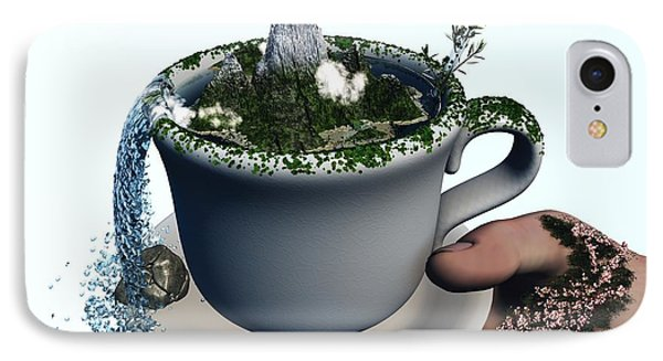 Piece Of Nature Cup Phone Case by Eric Nagel