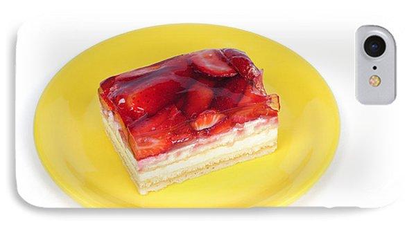 Piece Of Strawberry Cake Phone Case by Matthias Hauser