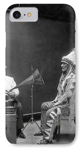 Piegan Chief Having Voice Recorded IPhone Case