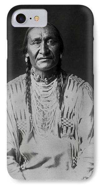 Piegan Indian Man Circa 1910 IPhone Case by Aged Pixel