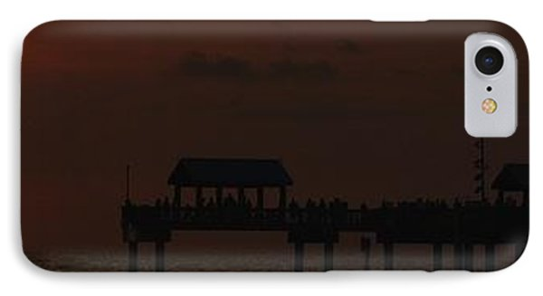 Pier 60 Sunset Panorama IPhone Case by Richard Zentner