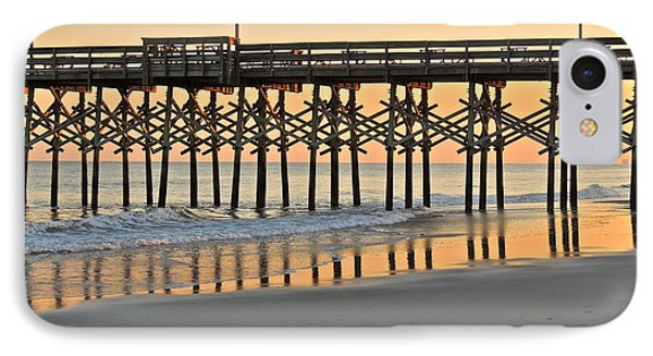 IPhone Case featuring the photograph Pier At Sunset by Eve Spring