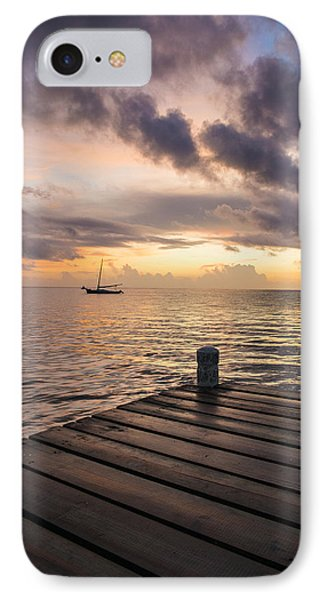 Pier At Sunset Vertical  IPhone Case